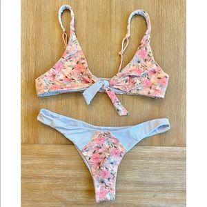 Beach Bunny Reversible Bikini L/S